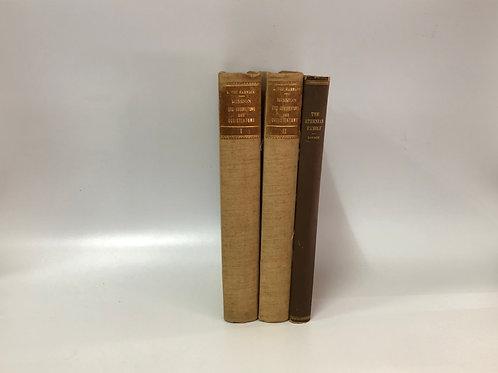 カラー洋書 ブラウン・ベージュ 3冊セット(M281)