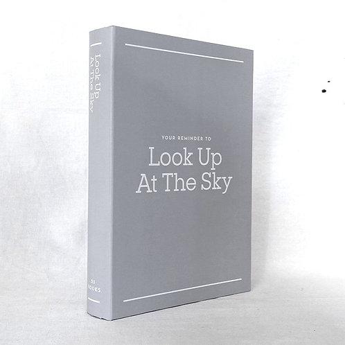 【イミテーションブック Lサイズ】 Look Up At The Sky (グレー)