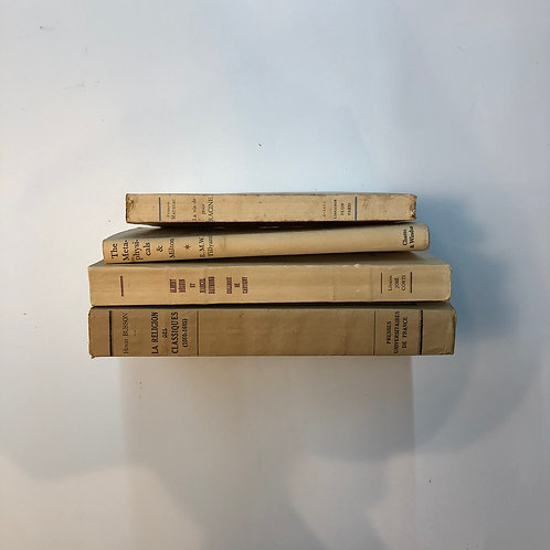 カラー洋書 ベージュ 4冊セット(M344)