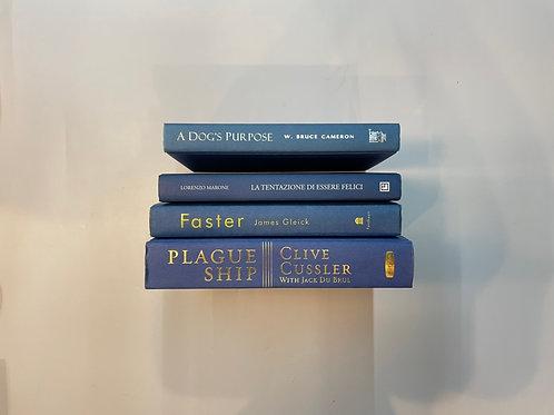 カラー洋書 ブルー 青4冊セット(M513)