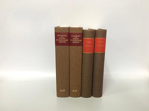 カラー洋書 ブラウン 4冊セット(M237)