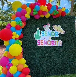 Grasswall rental and balloon garland artist