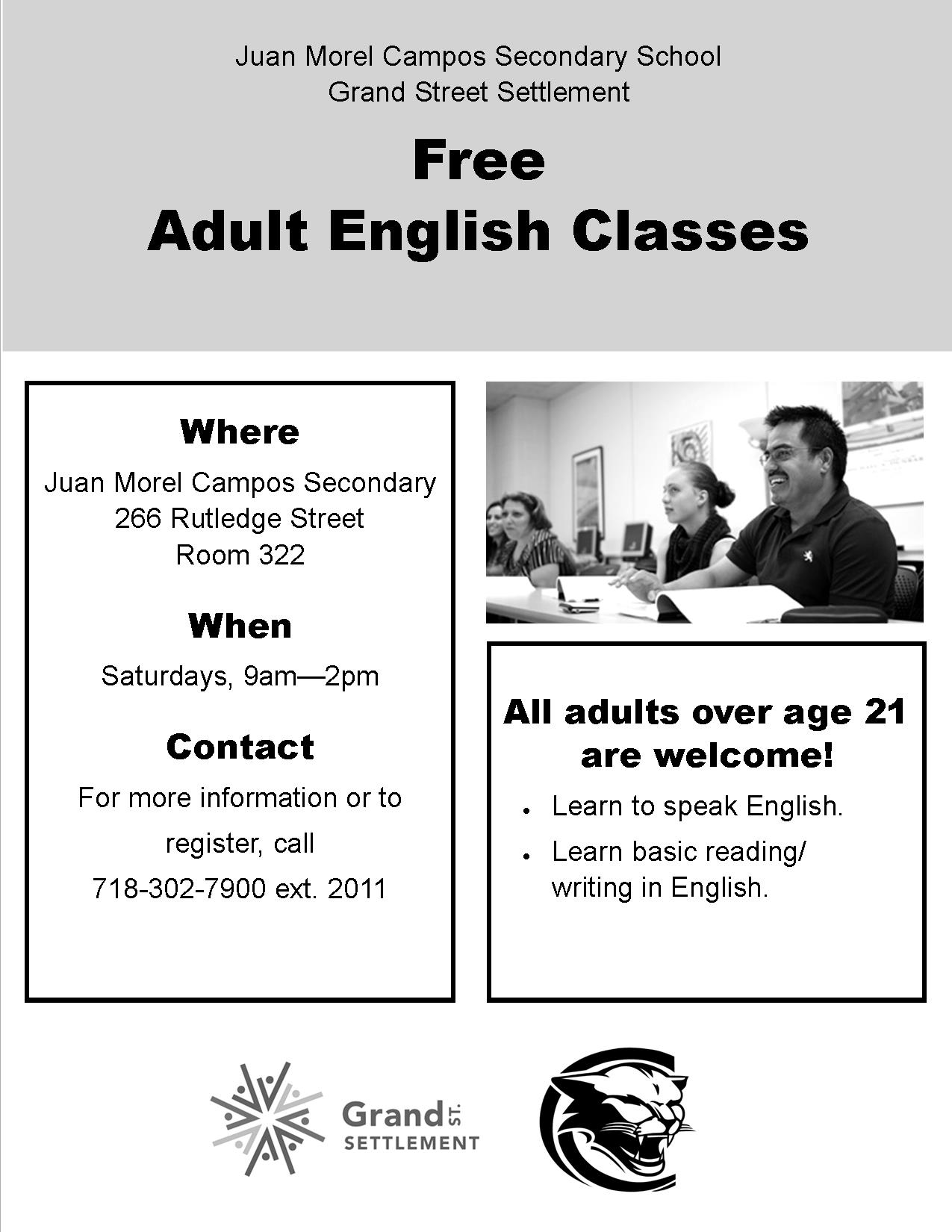 Saturday ESOL Flyer - BW