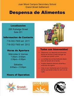 Food Pantry Flyer - Spanish
