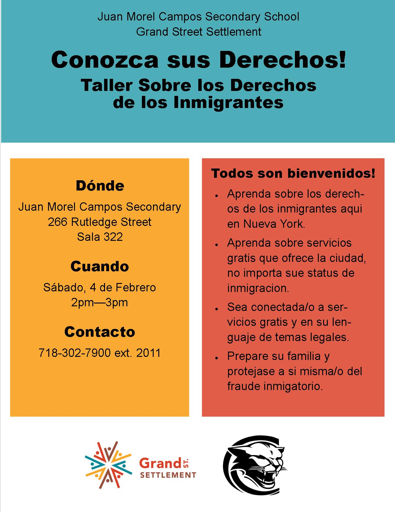 ActionNYC Know Your Rights Flyer - Spanish