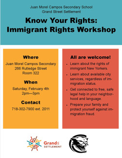 ActionNYC Know Your Rights Flyer