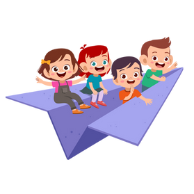 —Pngtree—kids ride paper plane vector_49