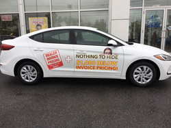 Promotional Vehicle Decals
