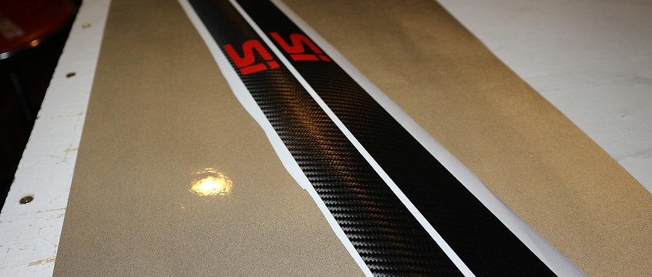 Carbon fiber door jam strips
