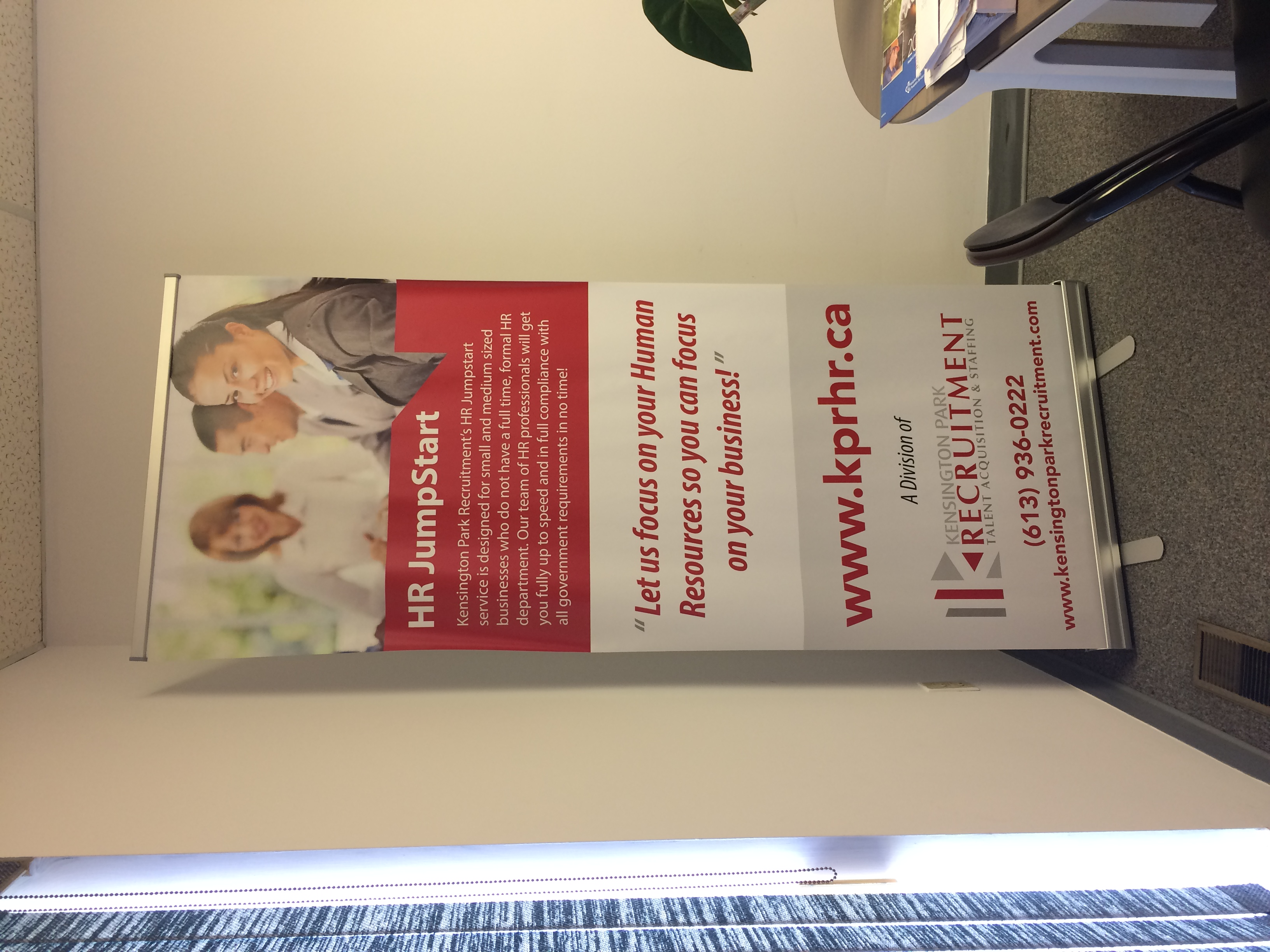 Retractable Banner Assembled