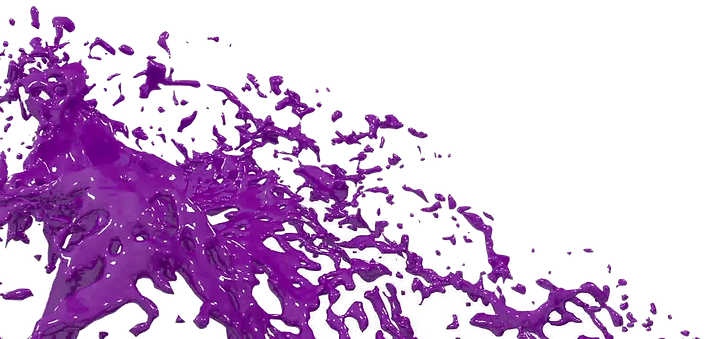 violet-paint-fountain-3d-on-white-backgr