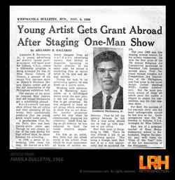 ARTICLE MANILA BULLETIN 1966