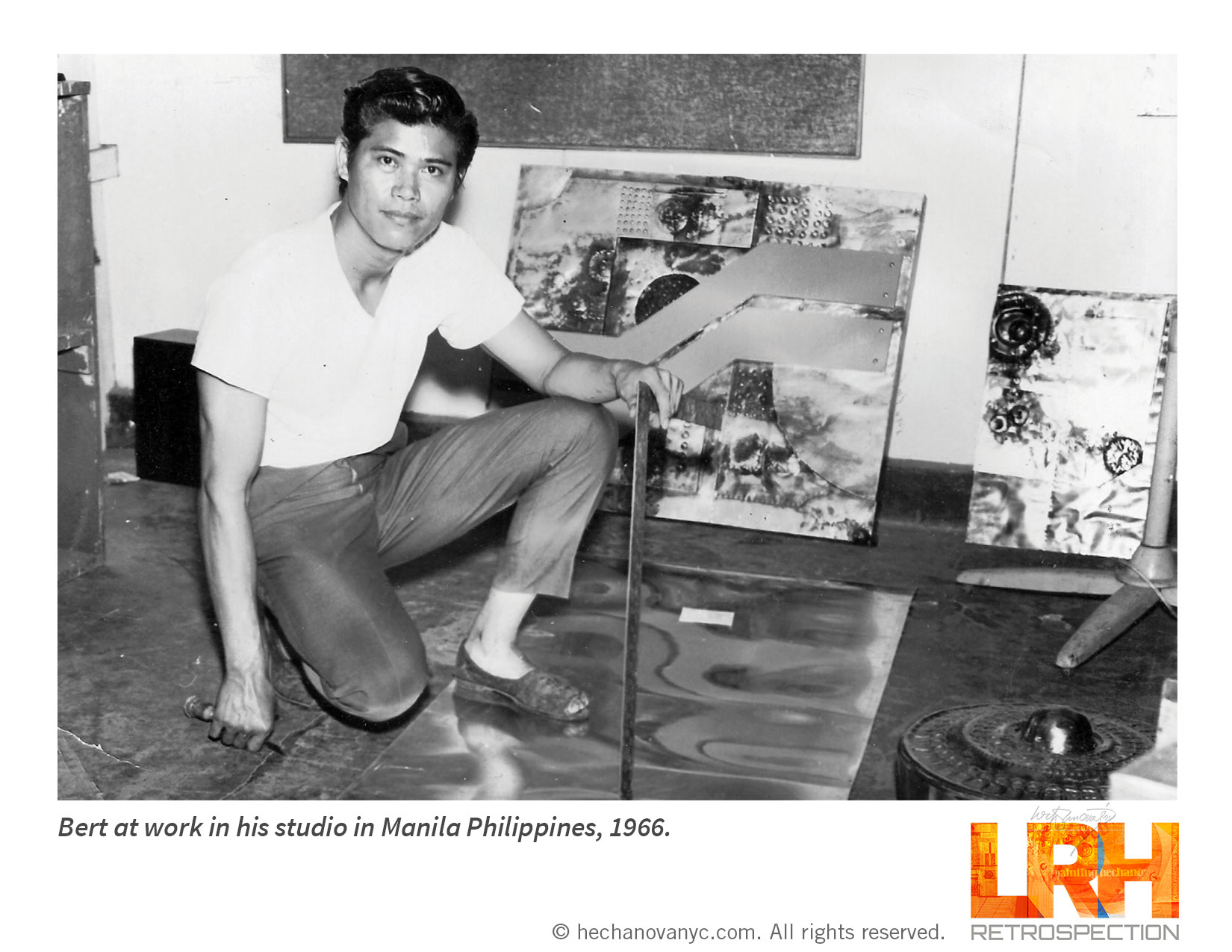 Bert at his studio in Manila