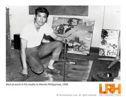 Bert at his studio in Manila