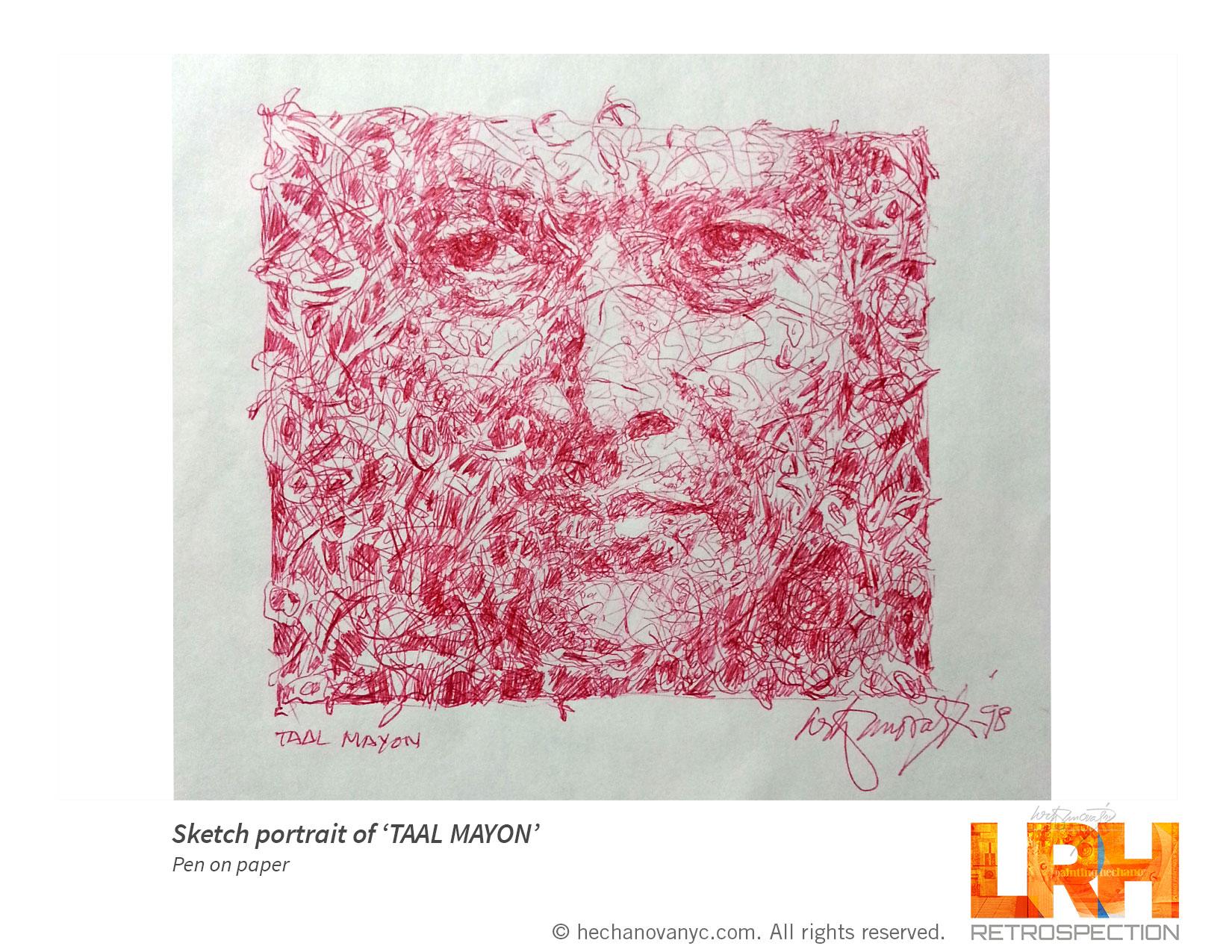 Sketch Portrait 'TAAL MAYON'