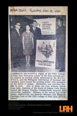 1stPrize Tourism Poster Contest 1967