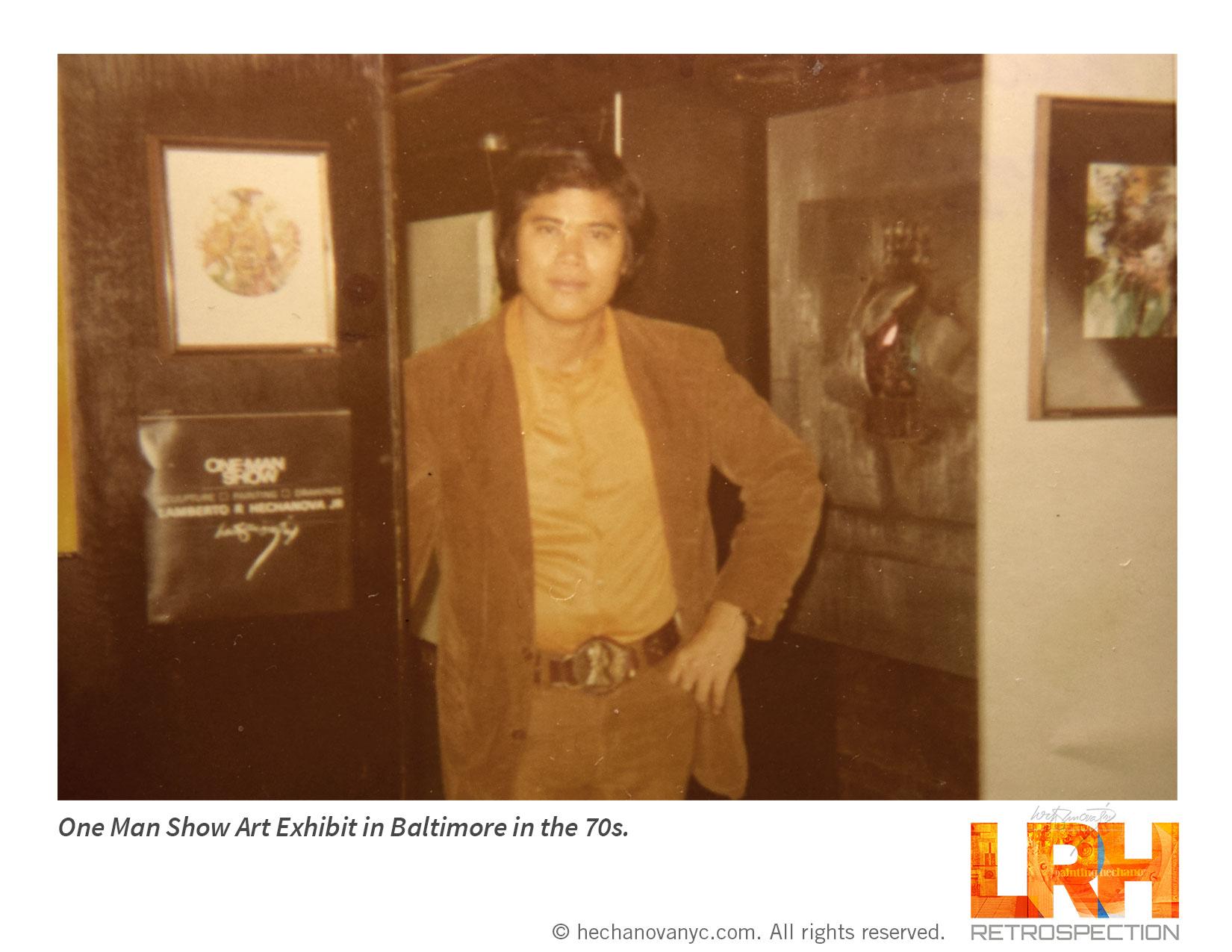 One-Man Show Art Exhibiit