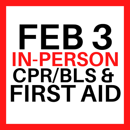 In-Person Class - Wednesday, Feb 3, 2021
