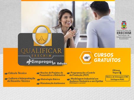 Inscrições para a 2ª edição do Qualificar Erechim + Empregos estão abertas a partir de segunda