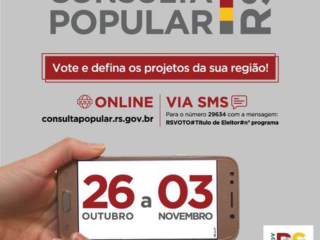 Comunidade já pode votar na Consulta Popular 2020