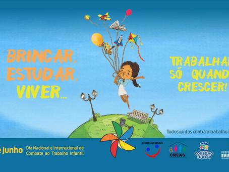 12 de junho: dia Nacional e Internacional de Combate ao Trabalho Infantil