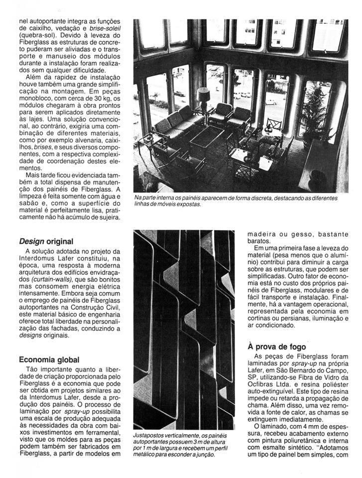 Paineis de fachada em forma de brise