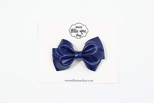 Navy Patent | Thick Lou Bow