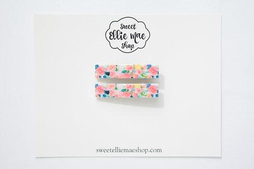 Lush Blush Printed Acrylic   Bar Clips