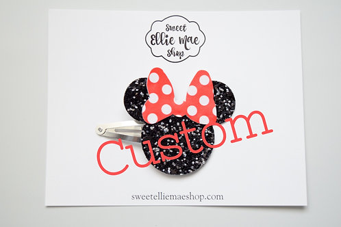 Request a Custom | Mouse Snap Clips