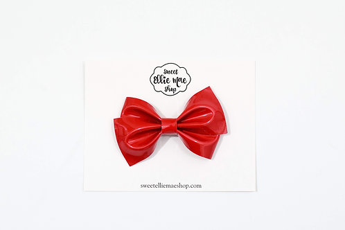 Red Patent | Thick Lou Bow