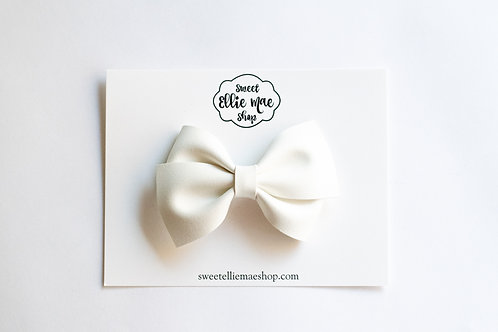 White Suede | Thick, Mini or Little Lou Bows