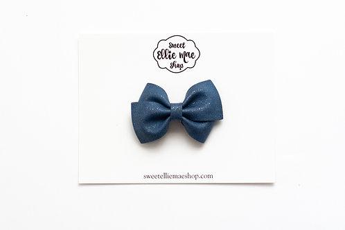 Navy Shimmer | Mini Lou Bow