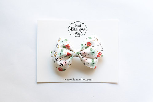 Holiday Floral   Thick, Mini or Little Lou Bows