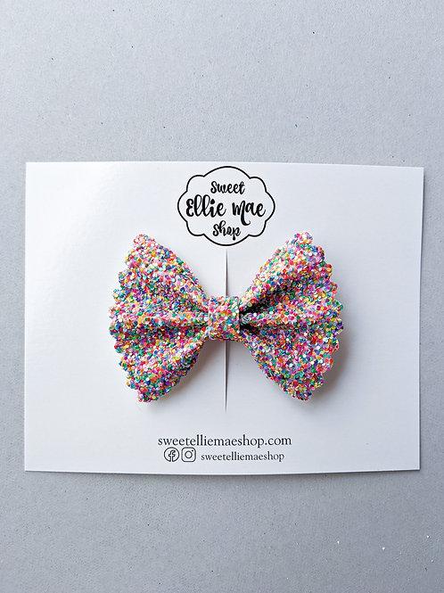 Confetti Cannon   Mini Scalloped Ellie Bow