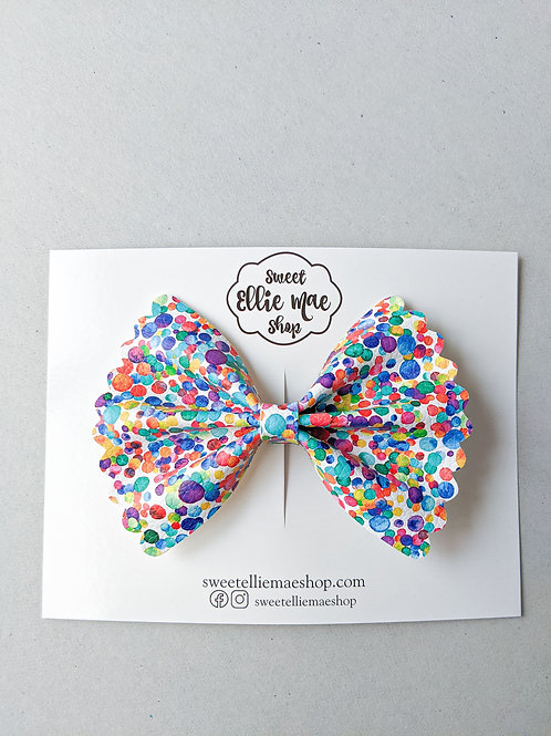 Dippin' Dots |  Scalloped Ellie Bow