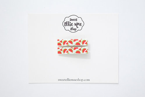 Messy Watermelon Printed Acrylic | Bar Clips