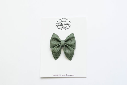Forest Embossed | Midi Sailor Bow