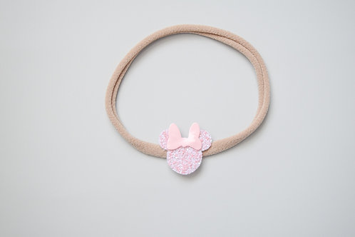 Light Blush Glitter & Pink Patent | Mini Mouse Headband