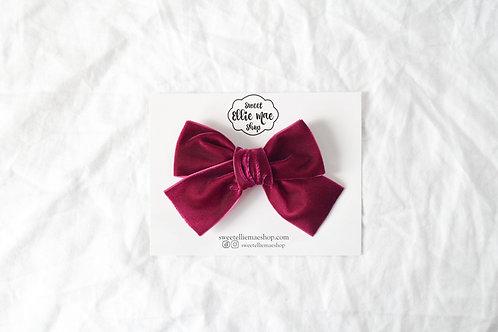 Berry | Hand-tied Velvet Bow