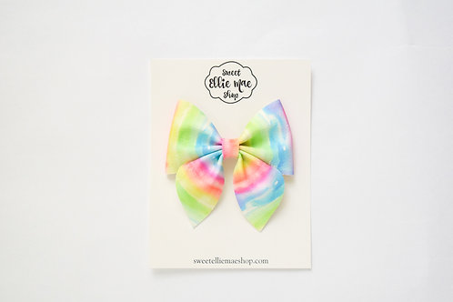 Melted Rainbow | Large Sailor Bow