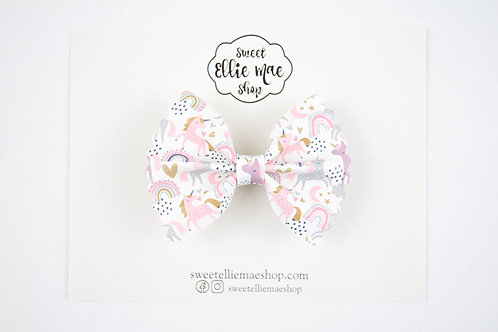 Unicorns & Rainbows | Mini Scalloped Ellie Bow