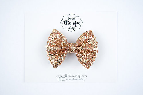 Old Gold  | Mini Scalloped Ellie Bow