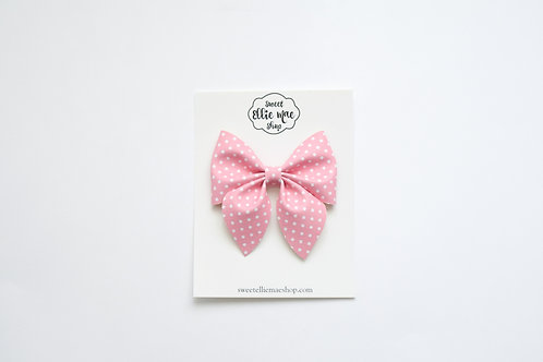 Pink Polka Dot | Large Sailor Bow