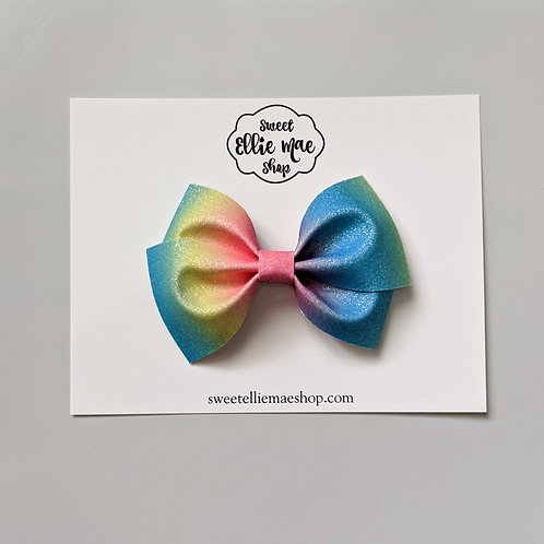 Rainbow Ombre | Thick Lou Bow