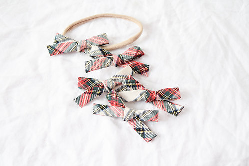 Holiday Plaid | Hand-tied Emma Bows