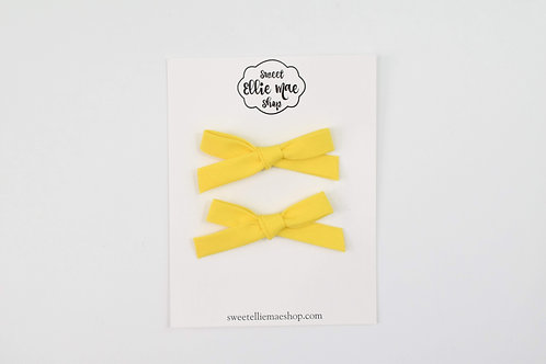 Yellow   Hand-tied Emma Bows