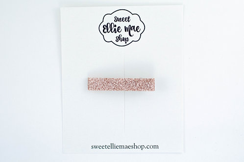 Pale Rose Gold | Bar Clip