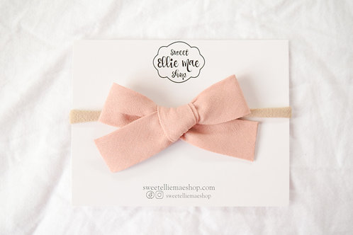 Linen Rose Pink  | Hand-tied Gracie Bow