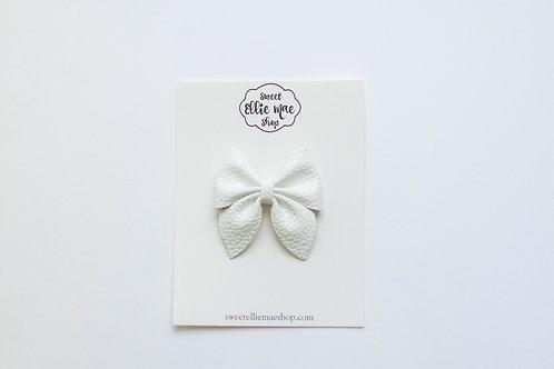 White | Midi Sailor Bow
