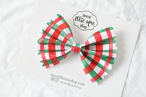 Christmas Plaid |  Scalloped Ellie Bow